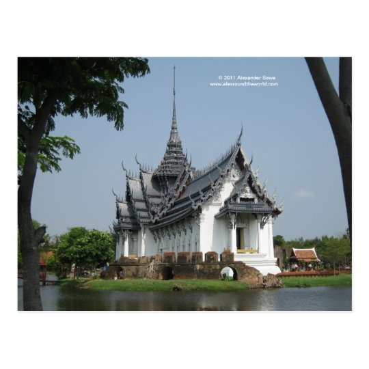 Postcard from Thailand with picture of temple