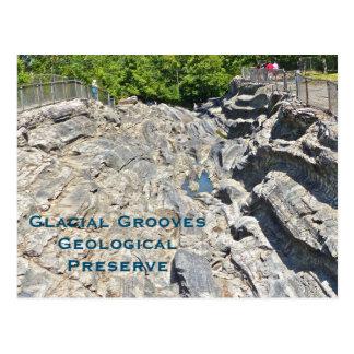 postcard/ GLACIAL GROOVES GEOLOGICAL PRESERVE Postcard