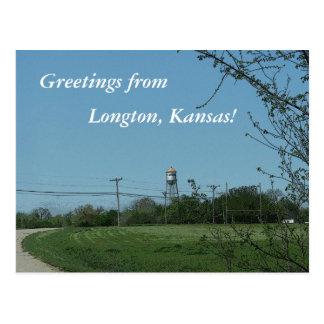 Postcard: Greetings from Longton, Kansas! Postcard