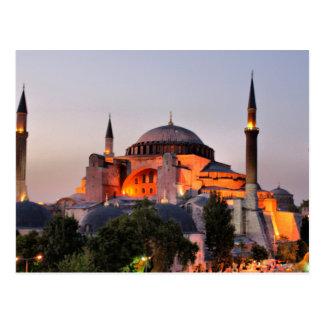 Postcard Hagia Sophia, Istanbul At dusk