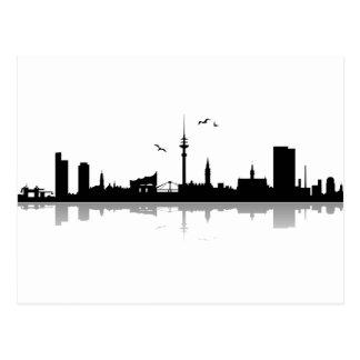 Postcard Hamburg skyline