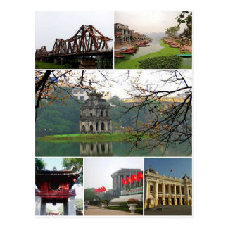 Postcard Hanoi Monuments, Vietnam