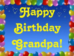 Postcard Happy Birthday Grandpa