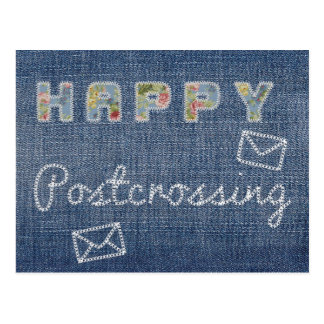"Postcard ""Happy Postcrossing Jeans"""