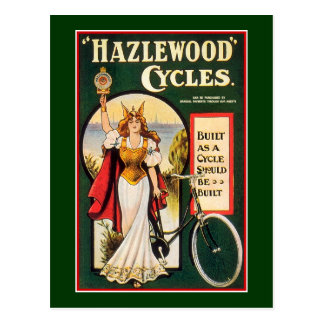 Postcard:  Hazlewood Cycles  - Vintage Bicycle Postcard