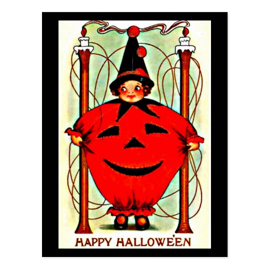 Postcard-Holiday Art-Vintage Halloween 22 Postcard