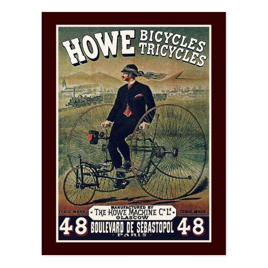 Postcard: Howe Bicycles & Tricycles Postcard