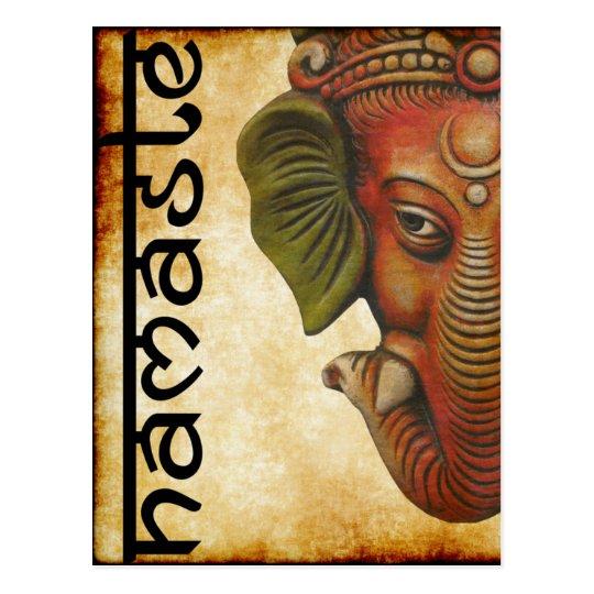 Postcard Indian God ganesha namaste design