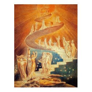 Postcard Jacob s Ladder - William Blake
