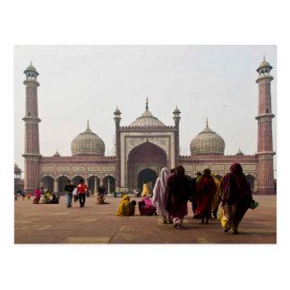 Postcard Jami Masjid in New Delhi. India