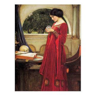 Postcard John Waterhouse-The Crystal Ball detail