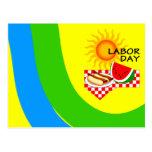 Postcard Labour Day Festive Picnic Invitations PC