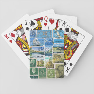 Postcard Landscape Playing Cards, Postage Stamps Poker Deck