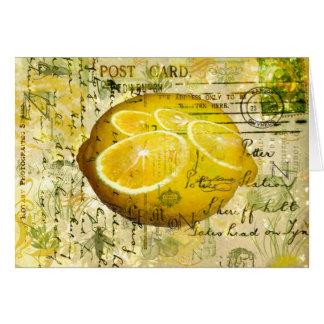 Postcard Lemons Greeting Card