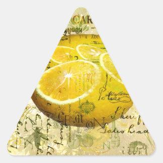 Postcard Lemons Triangle Sticker