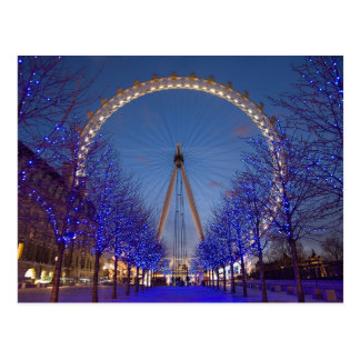 Postcard London Eye Blue Twilight, London the U.K.