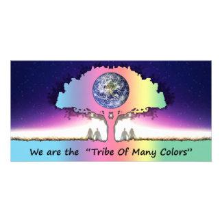 "Postcard long Photocard ~ ""Tribe OF Many Colors "" Custom Photo Card"