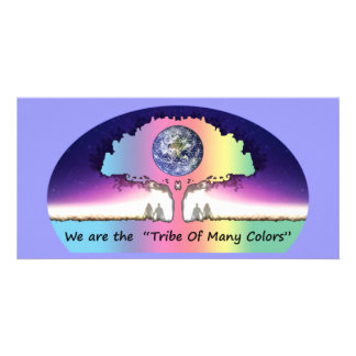"""Postcard long Photocard ~ """"Tribe OF Many Colors """" Picture Card"""