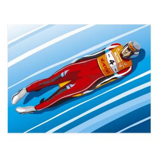 Postcard Luge Racer Winter Sport
