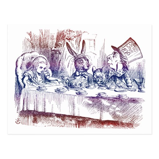 Postcard: Mad Hatter Tea Party Postcard