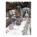 Postcard: Mad Hatter Tea Party - Rackham