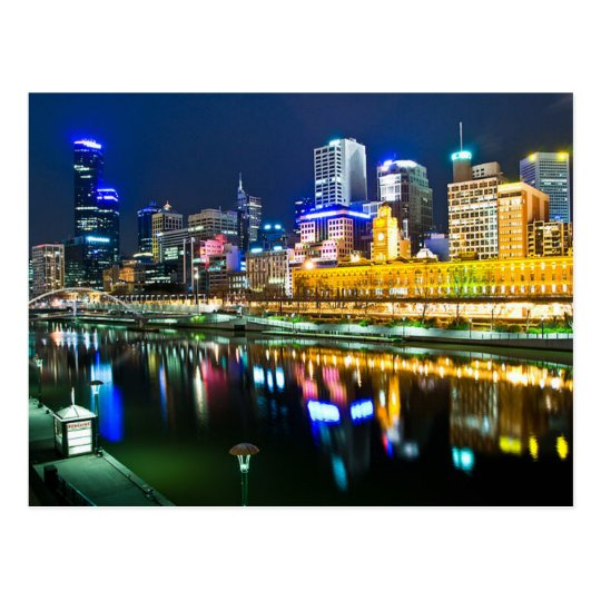 Postcard Melbourne, Australia by night