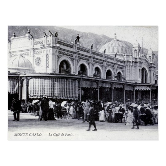 Postcard, Monte Carlo, Cafe de Paris Postcard