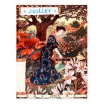 Postcard: Month of  July - Jullet