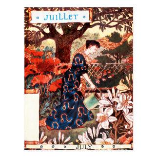 Postcard: Month of  July - Jullet Postcard
