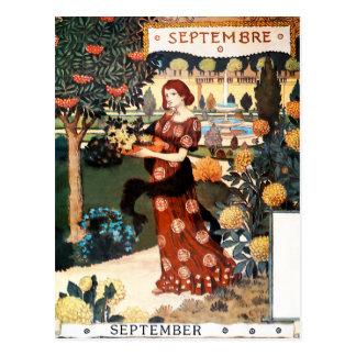 Postcard: Month of  September - Septembre Postcard