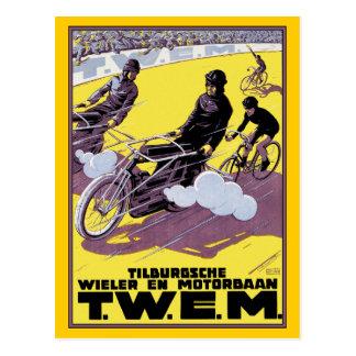 Postcard: Motorbike & Bicycle Race Postcard