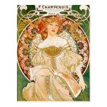 Postcard: Mucha - Champenois