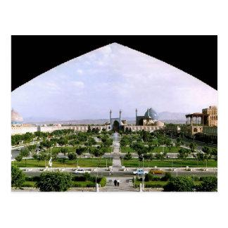 Postcard Naghsh-i Jahan Public garden, Isfahan,