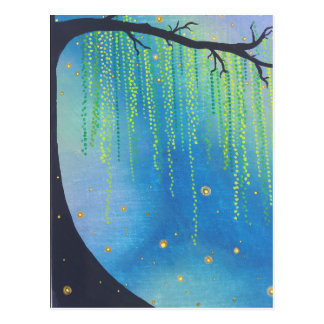 Postcard- Night Stars & Lightning Bugs Postcard