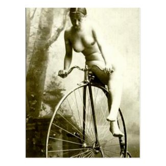 Postcard - Nude on Bicycle