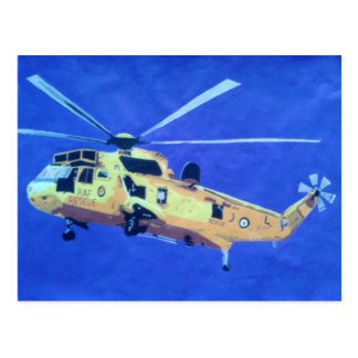 Postcard of a helicopter