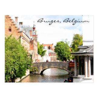Postcard of Bruges, Belgium