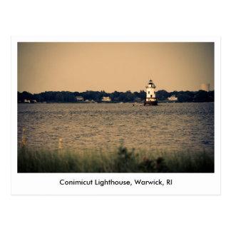 Postcard of Conimicut Lighthouse in Warwick, RI