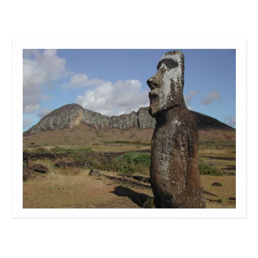 Postcard of Easter Island, Chile