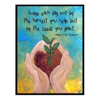 Postcard of Robert Louis Stevenson Quote Painting