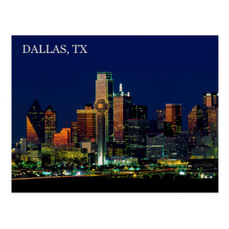 Postcard of the Dallas, Texas skyline