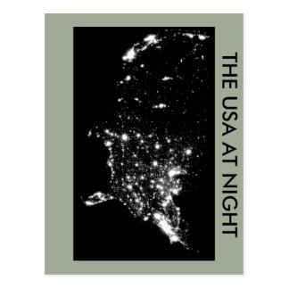 "Postcard of ""USA AT NIGHT"""