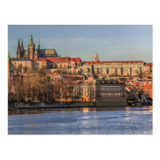 Postcard Panorama off Prague Castle, Czec Republic