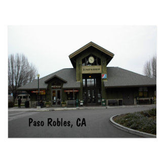 Postcard: Paso Robles Train Station in Winter Postcard