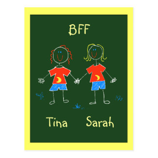 Postcard Personalized BFF Friendship Expression PC