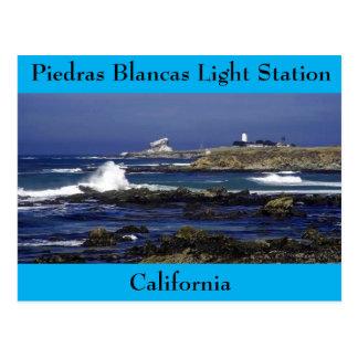 Postcard Piedras Blancas Light