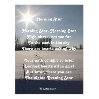 Postcard Poem Morning Star By Ladee Basset