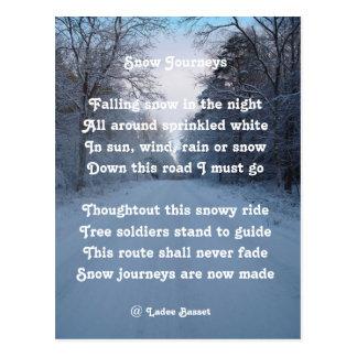 Postcard Poem Snow Journey By Ladee Basset