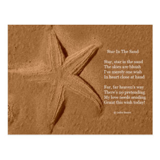 Postcard Poem Star In The Sand By Ladee Basset