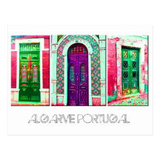 Postcard Portuguese doors